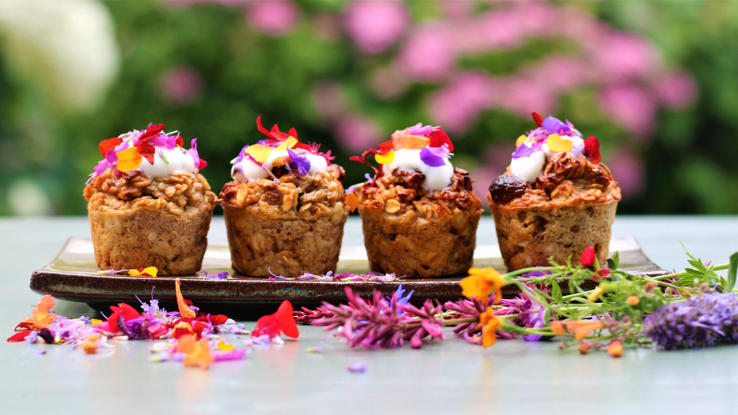 Fleurige ontbijtmuffins